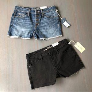 Universal Thread Blue & Black Jean Shorts …